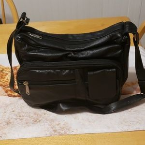 Black Leather conceal shoulder Hand bag